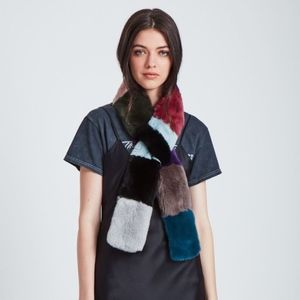Jocelyn Rex Rabbit Pull Through Scarf Multi Color